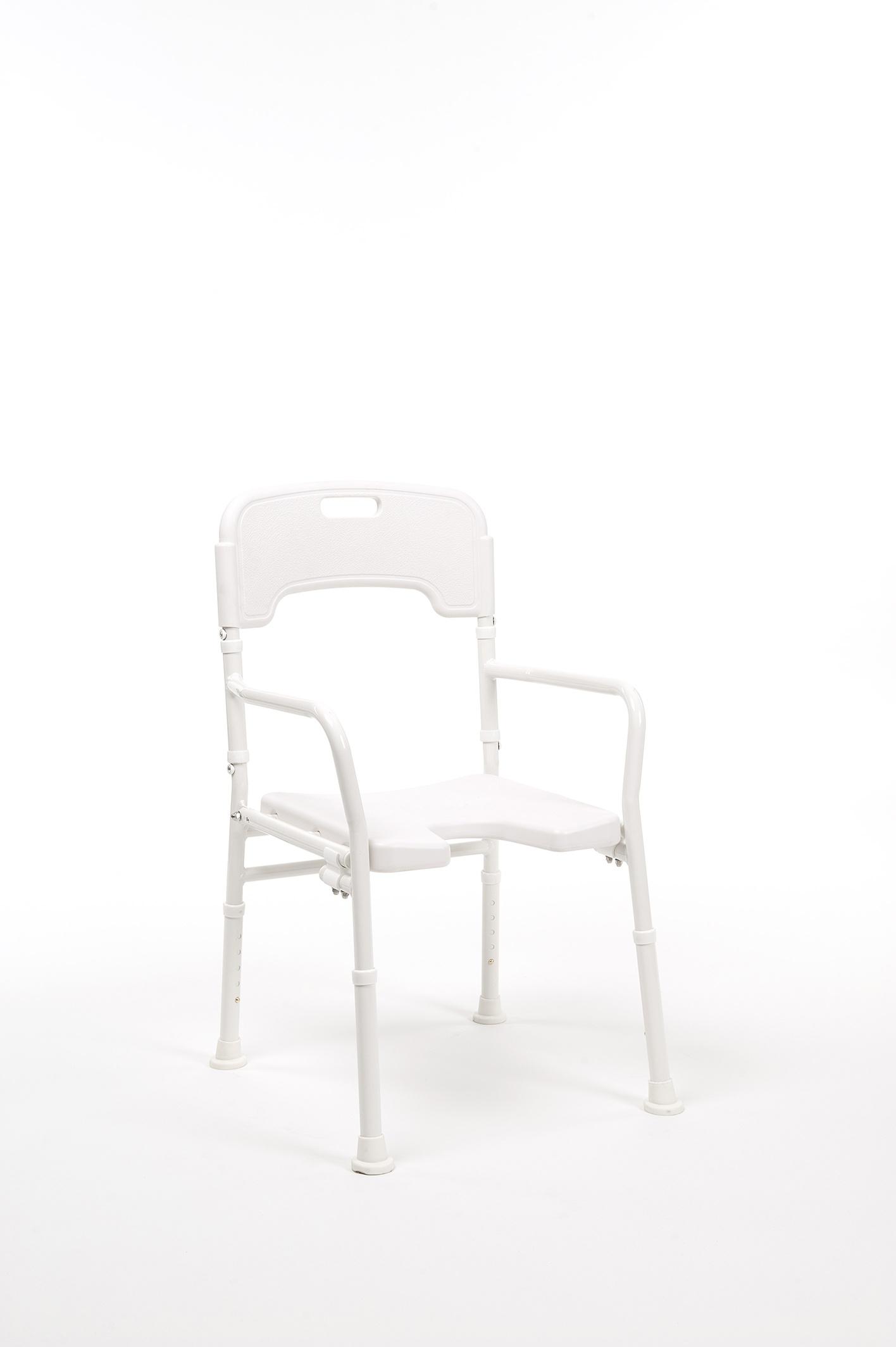 LALY Aluminiowe składane krzesło prysznicowe