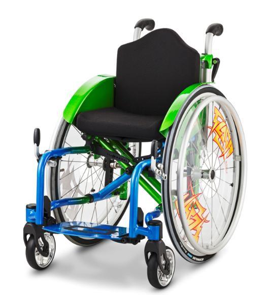 FLASH 1.135 ręczny wózek inwalidzki z krzyżakową ramą