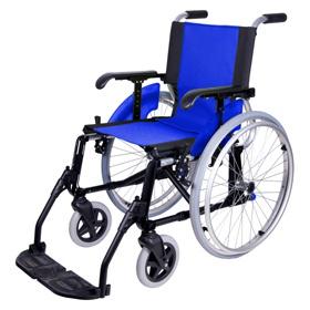 Line Wózek inwalidzki aluminiowy lekki na szybkozłączach, składany