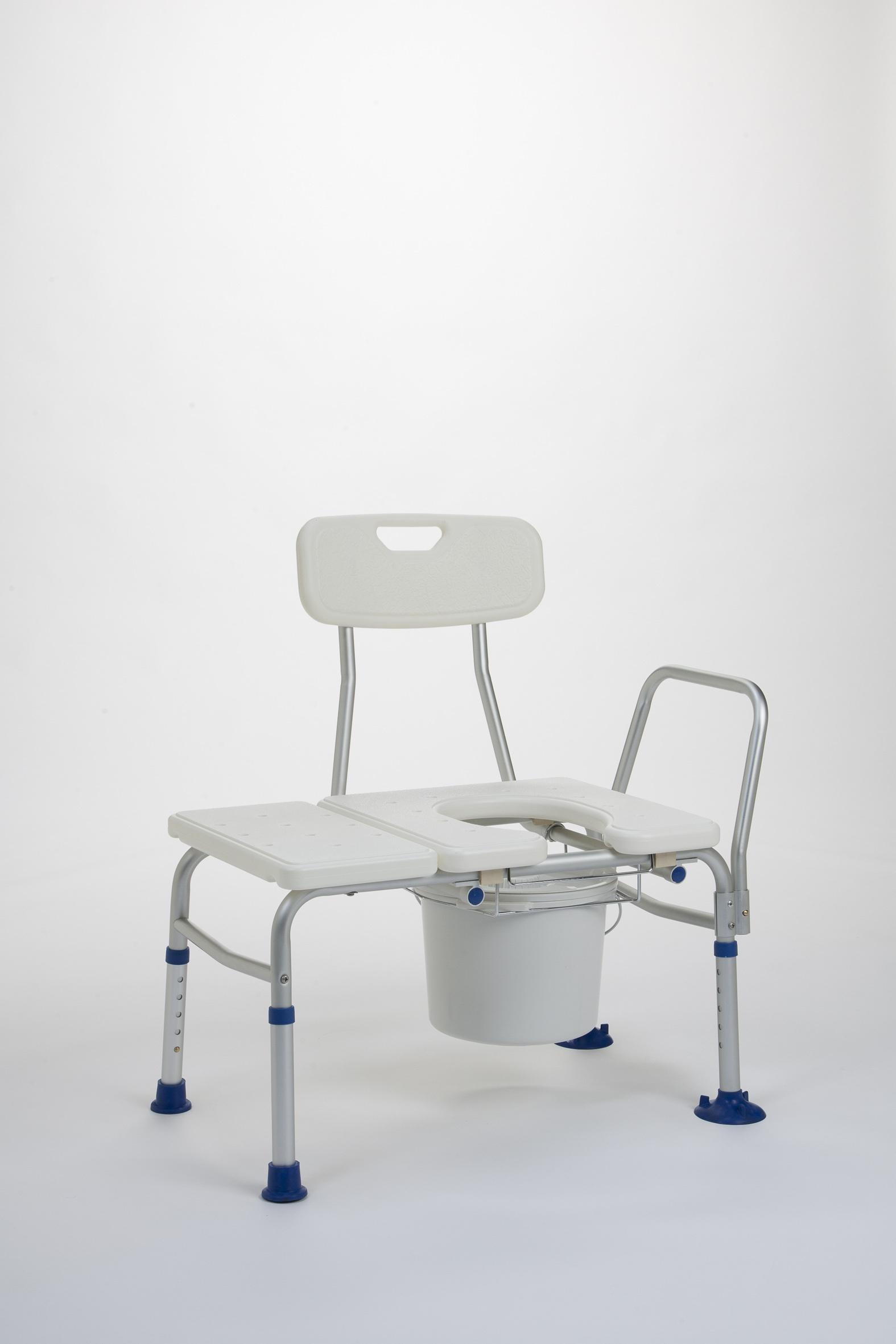 KATY Ławeczka kąpielowa z oparciem, uchwytem i otworem toaletowym