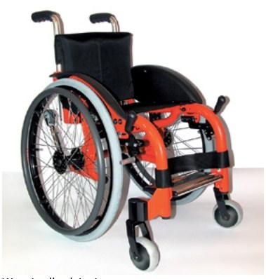 Offcarr Funky Wózek inwalidzki aktywny lekki, składany, na sztywnej ramie w wersji dla dorosłych i dzieci, na szybkozłączach