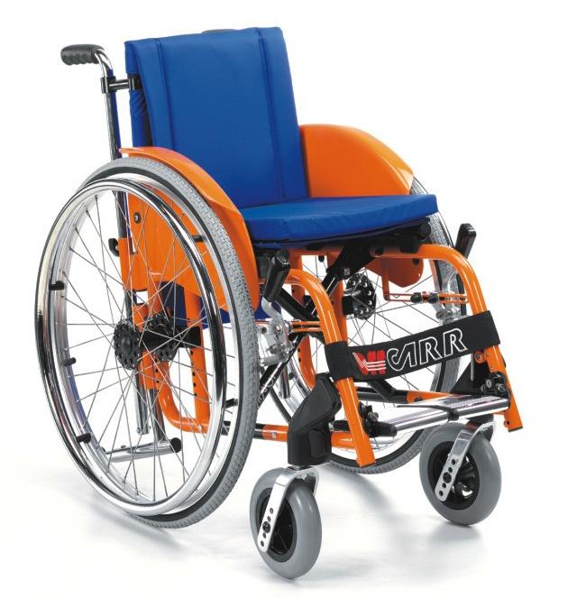 Offcarr Children Wózek inwalidzki aktywny, lekki, krzyżakowy, składany, dziecięcy, na szybkozłączach