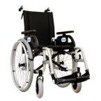 Delfin Wózek inwalidzki aluminiowy lekki na szybkozłączach, składany