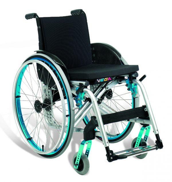 Offcarr Vega Wózek inwalidzki aktywny, lekki, krzyżakowy, składany, na szybkozłączach