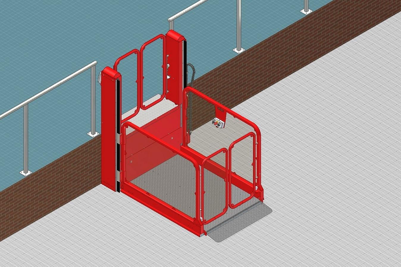 Podnośnik platformowy dla niepełnosprawnych STRATEG (wysokość podnoszenia do 3 metrów)